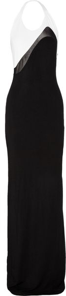 Jonathan Saunders Mesh-detailed Jersey Maxi Dress - Lyst