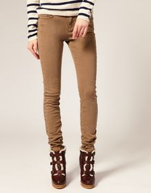 ASOS Collection Asos Washed Camel Skinny Jeans - Lyst