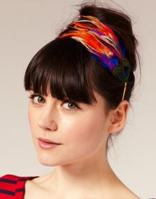 ASOS Collection Asos Bright Feathers Aliceband - Lyst