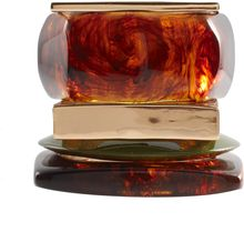 ASOS Collection Asos Multi Pack Of Tortoise Shell and Metal Angular Bangles - Lyst