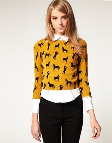 ASOS Collection Asos Jumper in Horse Print - Lyst