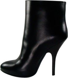 Lanvin Stiletto Ankle Boot in Black - Lyst