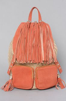 Jeffrey Campbell The Rizzler Bag in Rust Leather and Natural Canvas - Lyst