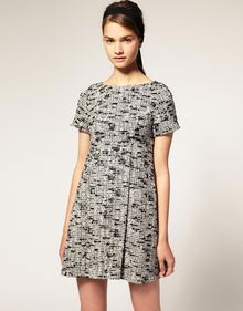 ASOS Collection Asos Swing Dress in Boucle - Lyst