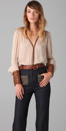 Elizabeth And James Chantal Blouse - Lyst