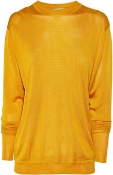 Acne Etienne Fine-knit Silk Cutout Sweater - Lyst