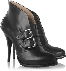 McQ by Alexander McQueen Studded Leather Ankle Boots - Lyst