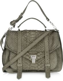 Proenza Schouler Ps1 Extra Large Brushed-python Satchel - Lyst
