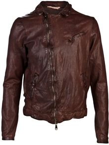 Giorgio Brato Zip Leather Jacket - Lyst