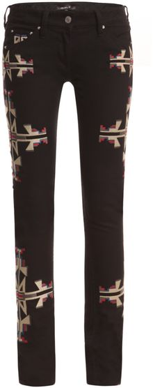 Isabel Marant Renell Navajo Embroidered Jeans - Lyst