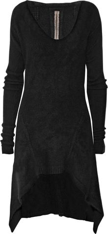 Rick Owens Cutout-front Cashmere Dress - Lyst