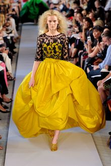 Oscar de la Renta Spring 2012 Yellow Voluminous Gown - Lyst