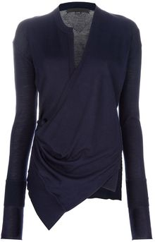 Alexander Wang Wrap Sweater - Lyst