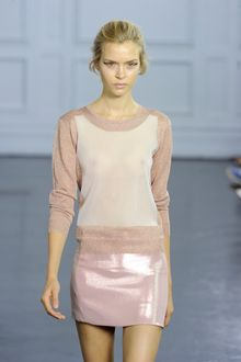 Richard Nicoll Spring 2012 Metallic Pink A-Line Mini Skirt - Lyst