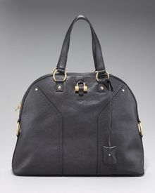 Saint Laurent Oversize Muse Satchel, Black - Lyst