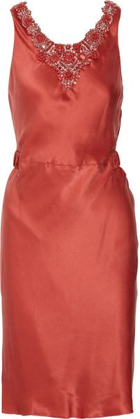 Thurley Embellished Drape-back Silk Dress - Lyst