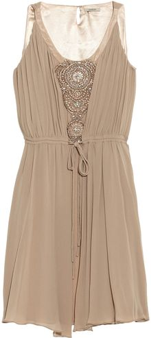Thurley Crystal-embellished Silk-chiffon Dress - Lyst