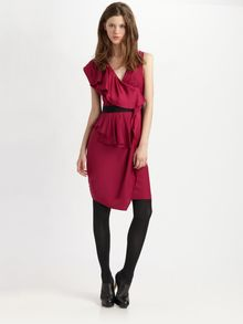Cynthia Steffe Dallas Silk Faux-wrap Dress - Lyst