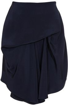 Balenciaga Draped Silk-satin Mini-skirt - Lyst
