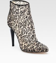 Bottega Veneta Lace and Patent Leather Ankle Boots - Lyst