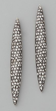 Made Her Think Pave Marquis Post Earrings - Lyst