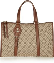 Gucci Diamond-print Canvas Tote - Lyst