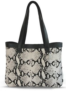 Julie K Handbags Jacqui Tote in Black and White Python - Lyst