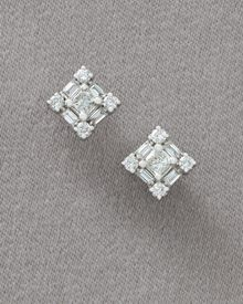 Roberto Coin Diamond Princess Earrings - Lyst