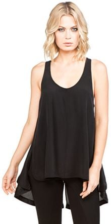 Alexander Wang Tank with Drawcord Hem in Black - Lyst