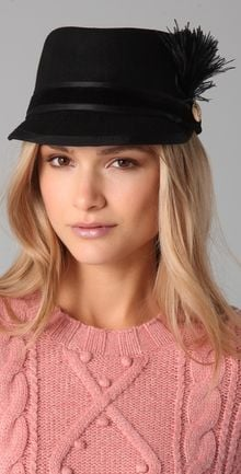 Juicy Couture Felt Riding Cap - Lyst