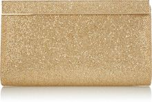 Jimmy Choo Cayla Glitter-finish Clutch - Lyst