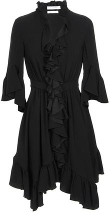 Altuzarra Flutter Ruffled Crepe Day Dress - Lyst