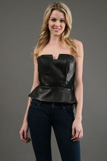 Kimberly Taylor Vicky Top in Black Leather - Lyst