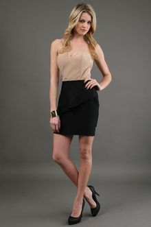 Kimberly Taylor Virginia Dress in Nude and Black - Lyst