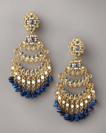 Jose & Maria Barrera Gold Chandelier Clip Earrings - Lyst