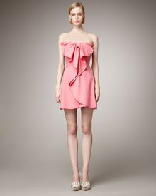Valentino Strapless Bow Dress - Lyst