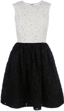 Oscar de la Renta Patchwork Dress - Lyst