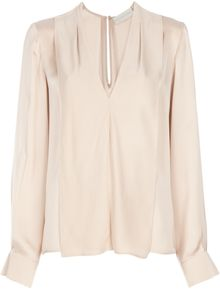 Stella McCartney V-neck Silk Blouse - Lyst