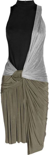 Alexander Wang Knotted Draped-jersey Dress - Lyst