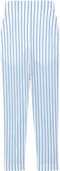 The Row Seedun Striped Cotton Cropped Pants - Lyst