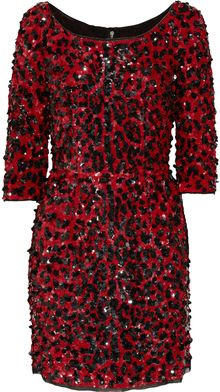 Dolce & Gabbana Sequined Silk-Blend Dress - Lyst
