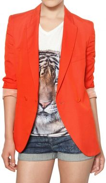 Stella McCartney Dry Slub Viscose Twill Jacket - Lyst