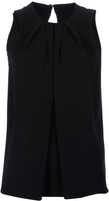Balenciaga Draped Sleeveless Top - Lyst