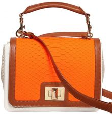 Emilio Pucci Marquise Python Canvas & Leather Shoulder Bag - Lyst