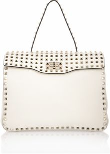 Valentino Rockstud Studded Leather Shoulder Bag - Lyst