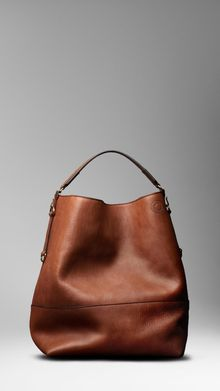 Burberry Large Washed Leather Duffle Bag - Lyst