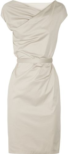 Jil Sander Tailored Stretch-cotton Dress - Lyst