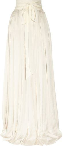 Lanvin Draped Satin Maxi Skirt - Lyst