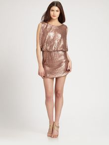 Laundry By Shelli Segal Sequined Knit Dress - Lyst