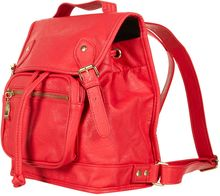 Topshop Raspberry Buckle Backpack - Lyst